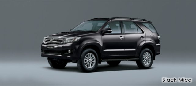 Black Mica Metallic Toyota Fortuner 2013