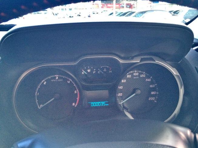Orange Ford Ranger Wildtrak Interior Digital meter