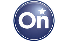 Image showing the OnStar logo, providing safety and security in the 2017 Sierra 2500HD heavy-duty pickup truck.