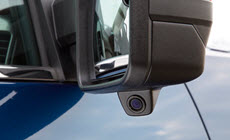 Image of available rear vision camera on the 2017 Sierra 2500HD heavy-duty pickup truck.